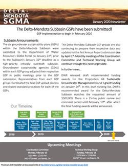Delta-Mendota Newsletter - January 2020