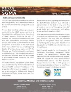 Delta Mendota SGMA Newsletter Summer 2020